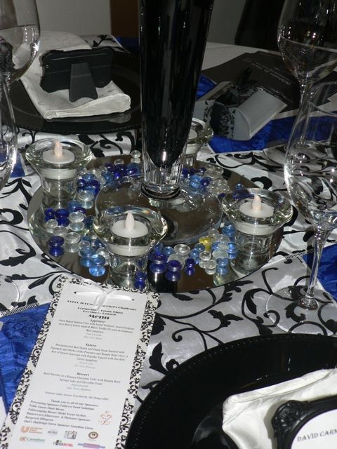 Royal Blue Wedding Decorations Royal Blue Black White Decor