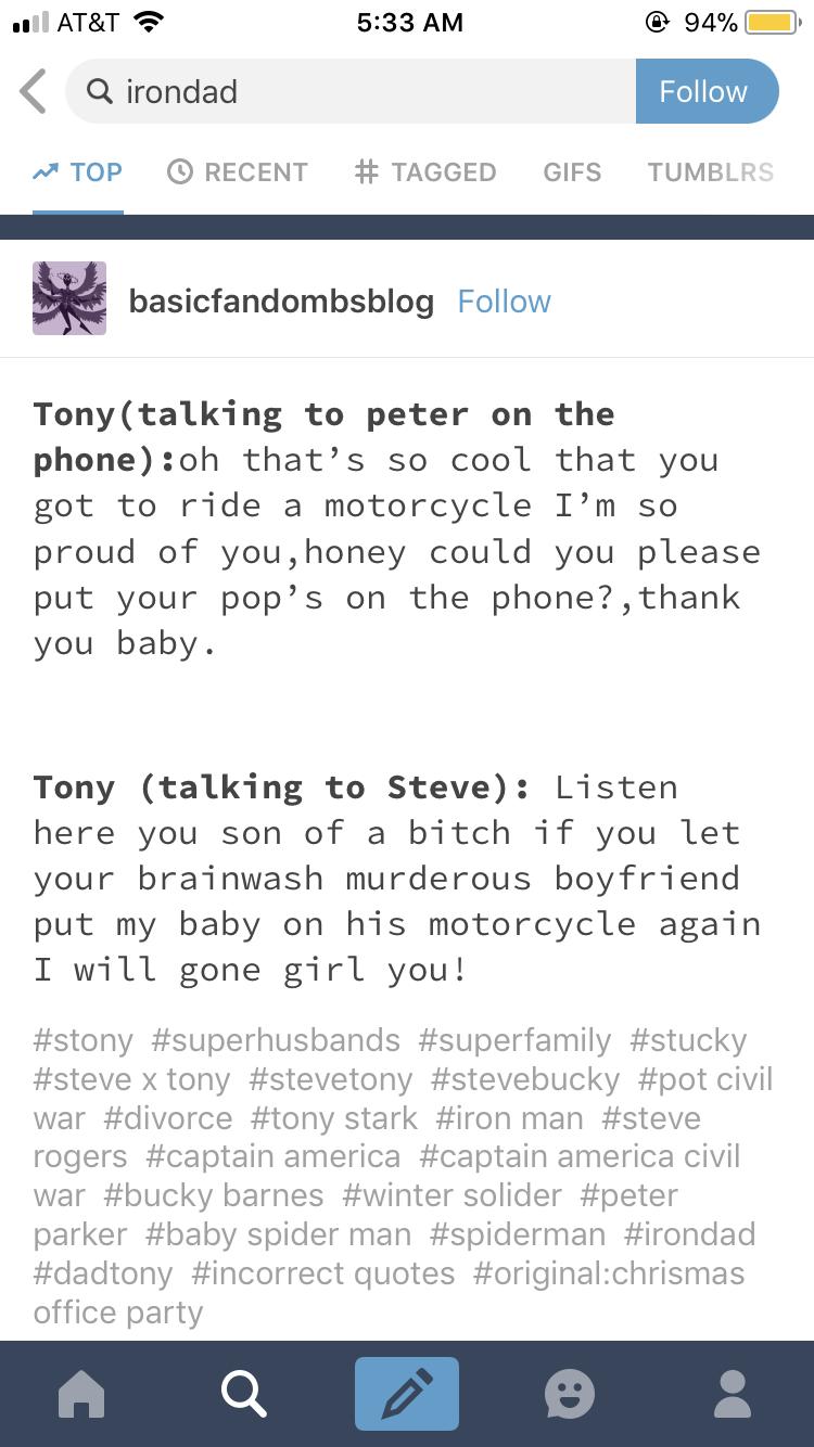 Stony #FormerStucky  Steve's ex, Bucky, meets Steve and