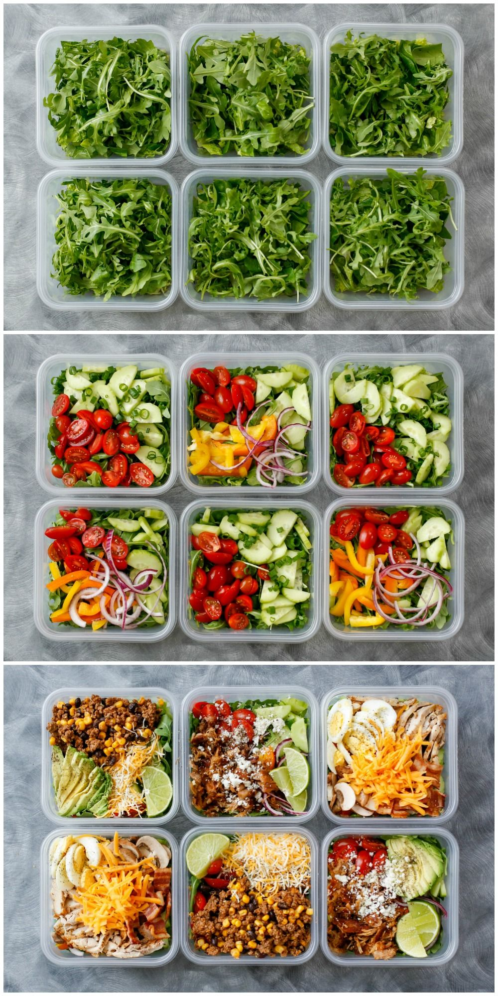 How To Eat Salad Everyday & LIKE IT! get the recipes at barefeetinthekitchen.com #weeklymealprep