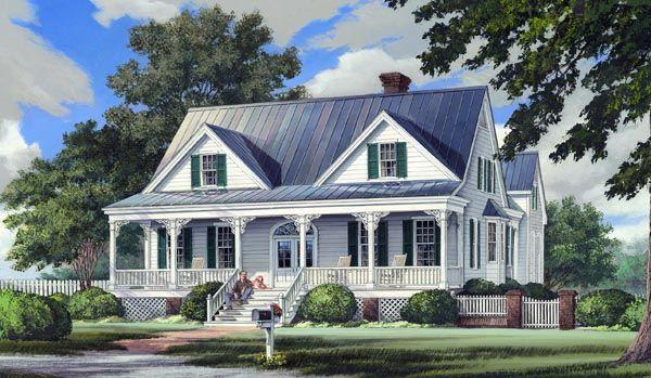 Country Farmhouse Southern House Plan 86244 Plans De