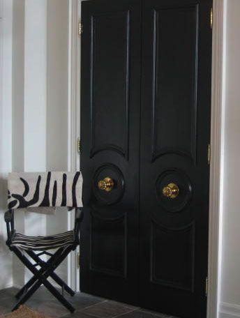 Bifold Door To French Doors Doors Interior Black Interior Doors French Doors Interior