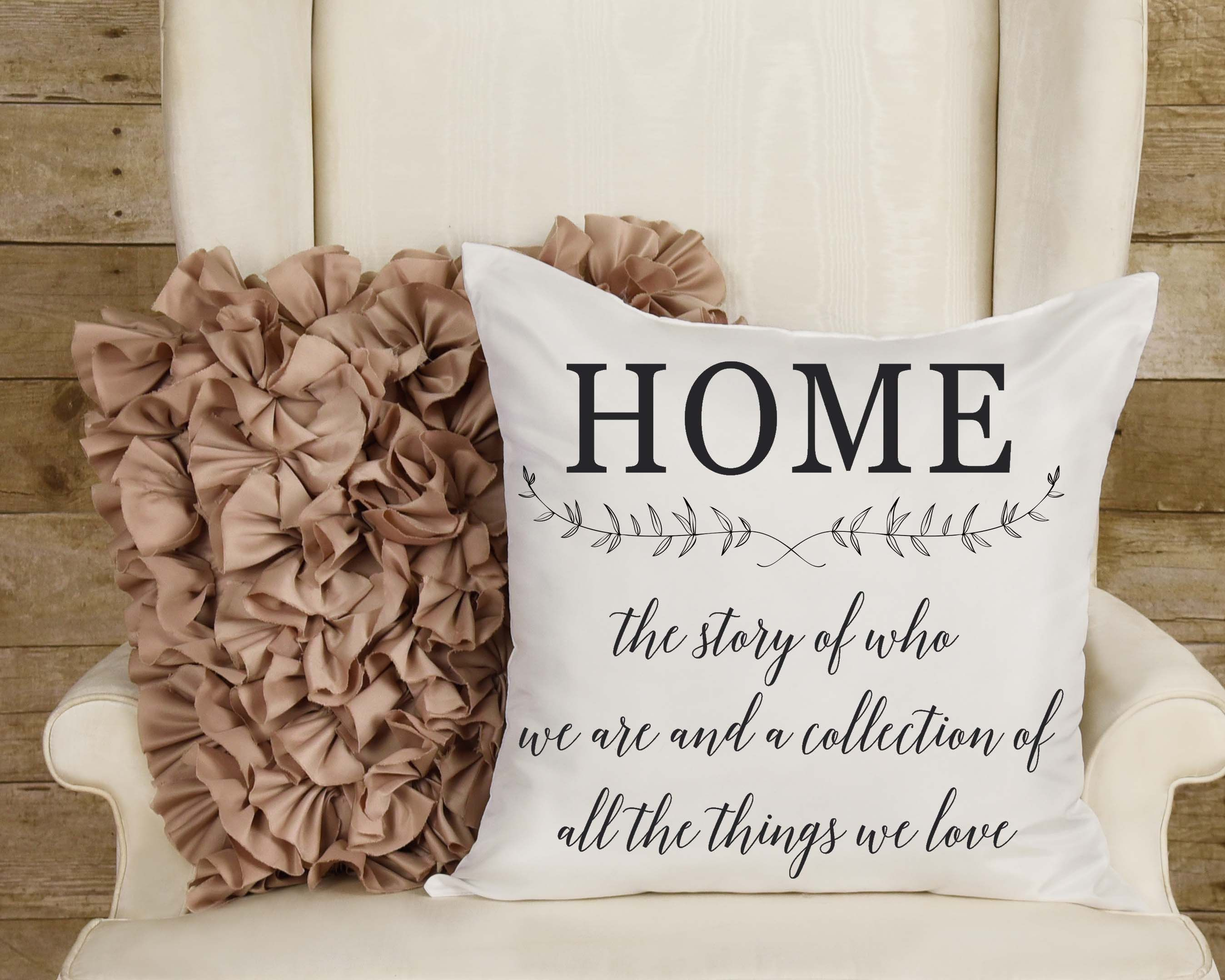 Farmhouse home pillow cover decorative couch throw