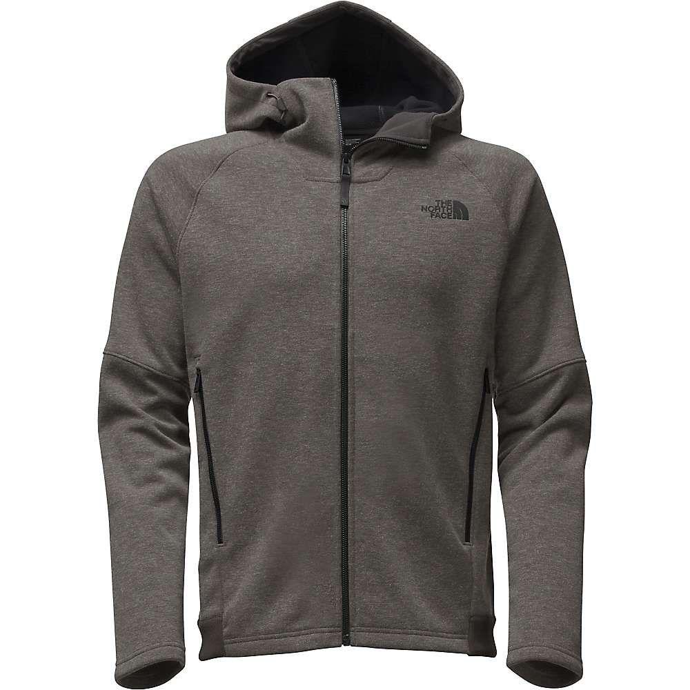 THE NORTH FACE TNF Texture Cap Rock Outdoor Warm Fleece Jacket Hooded Mens New