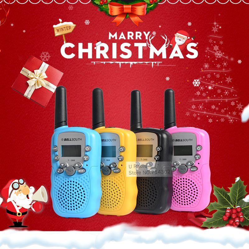 T388 어린이 라디오 장난감 무전기 어린이 라디오 UHF 양방향 라디오 T-388 어린이 무전기 장난감 선물