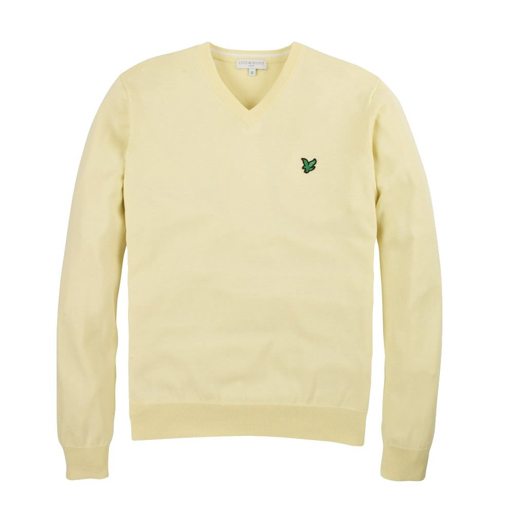 Lemon Pima Cotton V-Neck Sweater. A lovely colour for Summer - this Mens.  Cotton SweaterLyle ScottLemonGolfColourSummerColorSummer RecipesColors