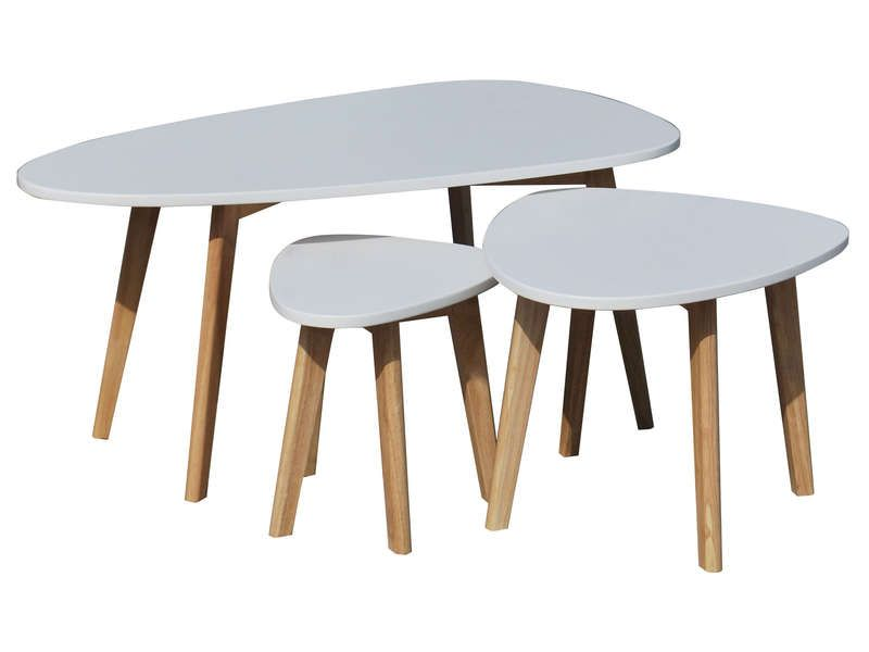 3 table basse gigogne - Conforama Tables De Cuisine