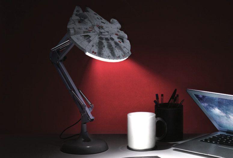 Millennium Falcon Posable Desk Lamp Desk Lamp Lamp Beautiful Lamp