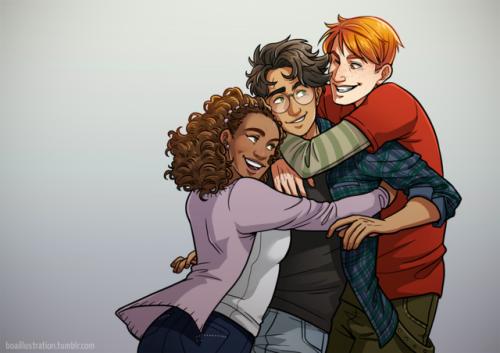 boaillustration: I posted my first Harry Potter fanart online...