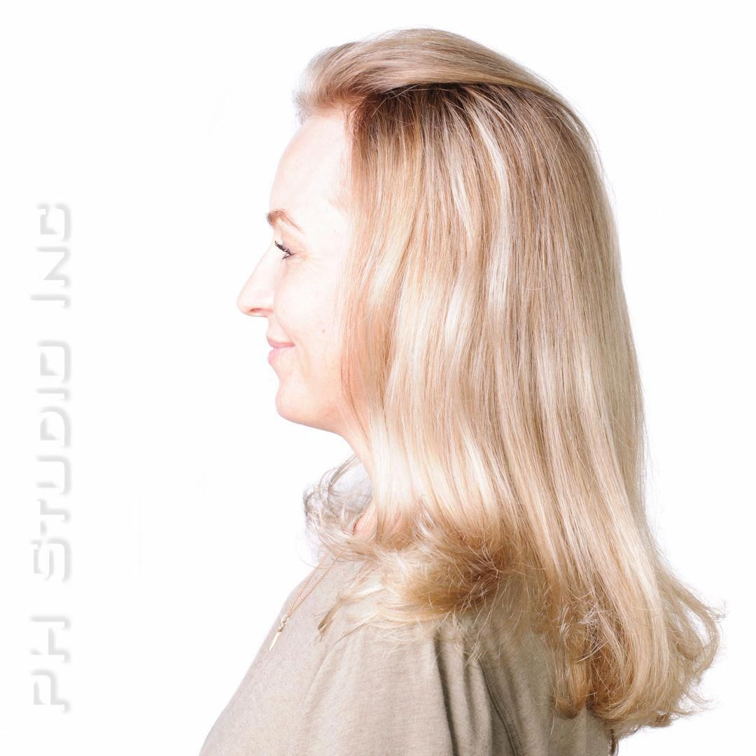 Wheat blonde and Champagne blonde hair color that we simply adore is the perfect balance between the two hues.  Color & Haircut/Style: Kristina Puckorius  Products: Aquage Beyond Shine ideal for use with a ceramic flat iron to smooth and protect hair from thermal damage. #champagneblondehair #champagneblondehair