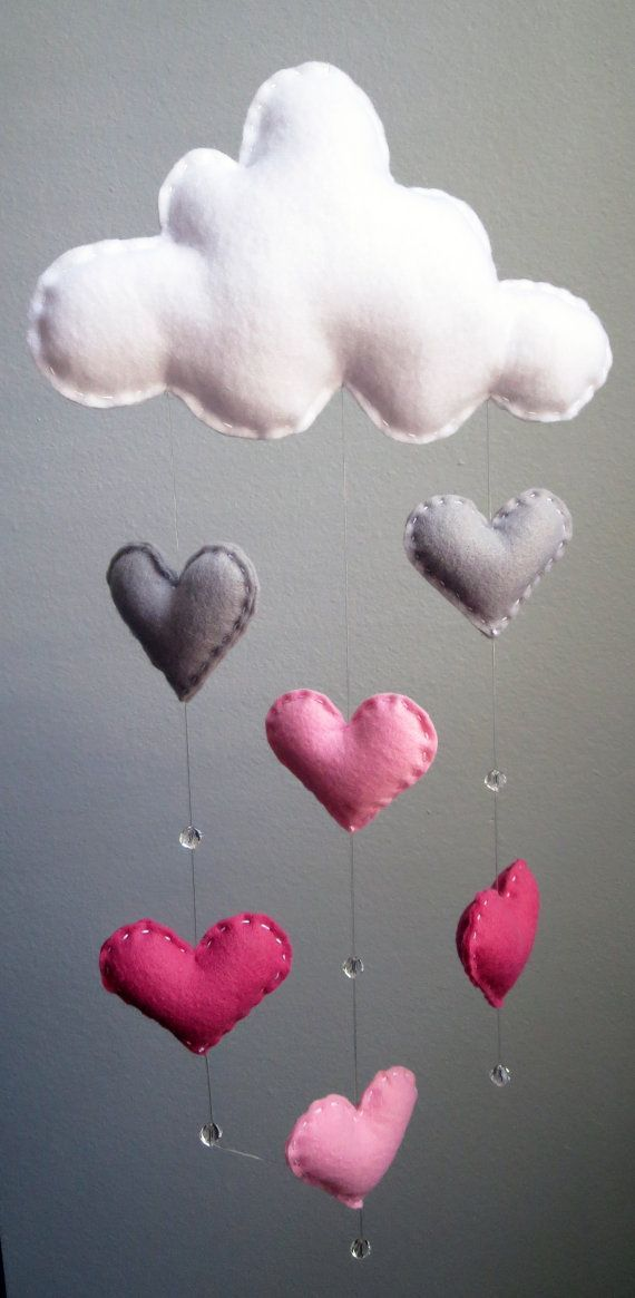 Baby Pink Glass Heart