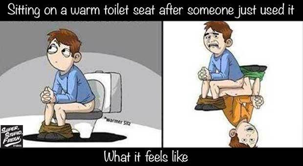 Warm Toilet Seat Funny Cartoon Memes Cartoon Memes Funny Cartoon