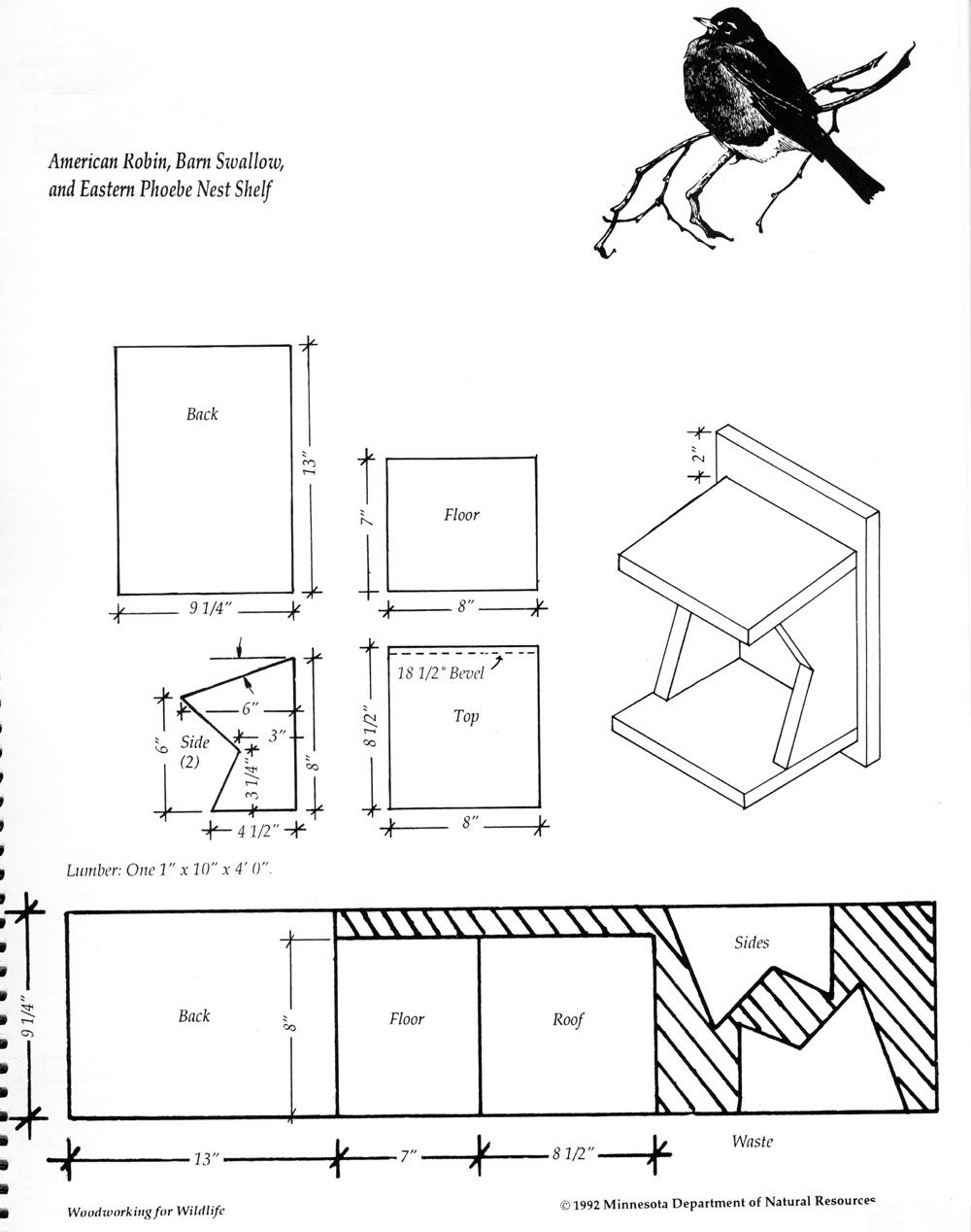 wren house plans with detailed diagrams, detailed instructions and