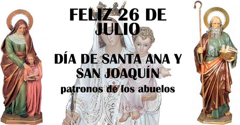 Buenas tardes, hoy es un día muy importante en el Santoral. Celebramos el día de #SantaAna y #SanJoaquín, patronos de los abuelos.  Queremos desearte un muy feliz día!! https://twitter.com/arbrabander/status/890240373171249152