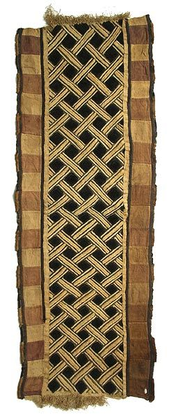 kuba cloth panel • DR Congo • made from raffia, worn on top of long dance dresses for added decoration and prestige