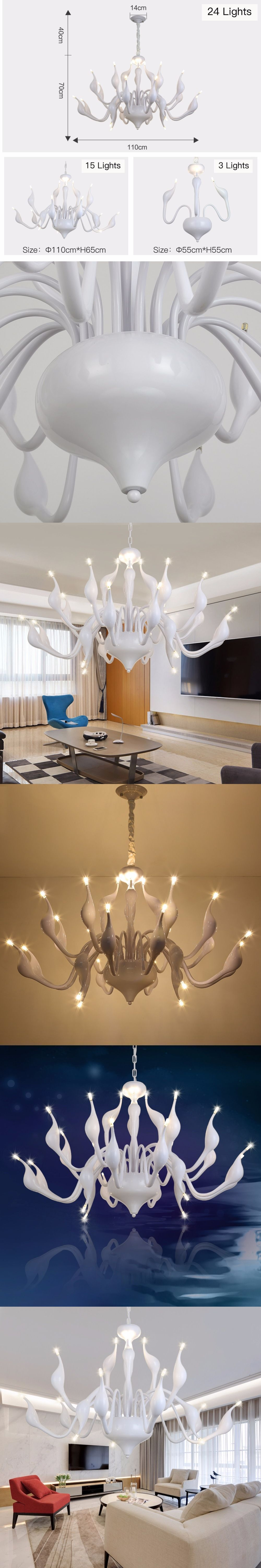 Lustre Led Lamp Chandelier Lighting Lamparas De Techo Colgantes