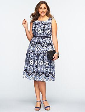 Flower Mosaic Dress Talbots Clothes & Shoes