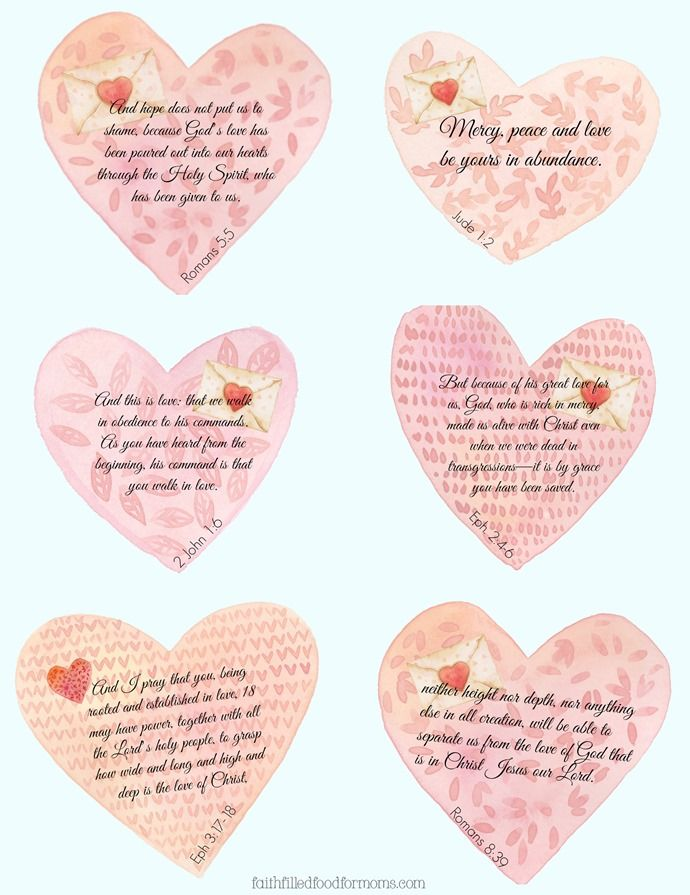 Valentine Scripture Blessings   Scriptures, Blessings and Free ...