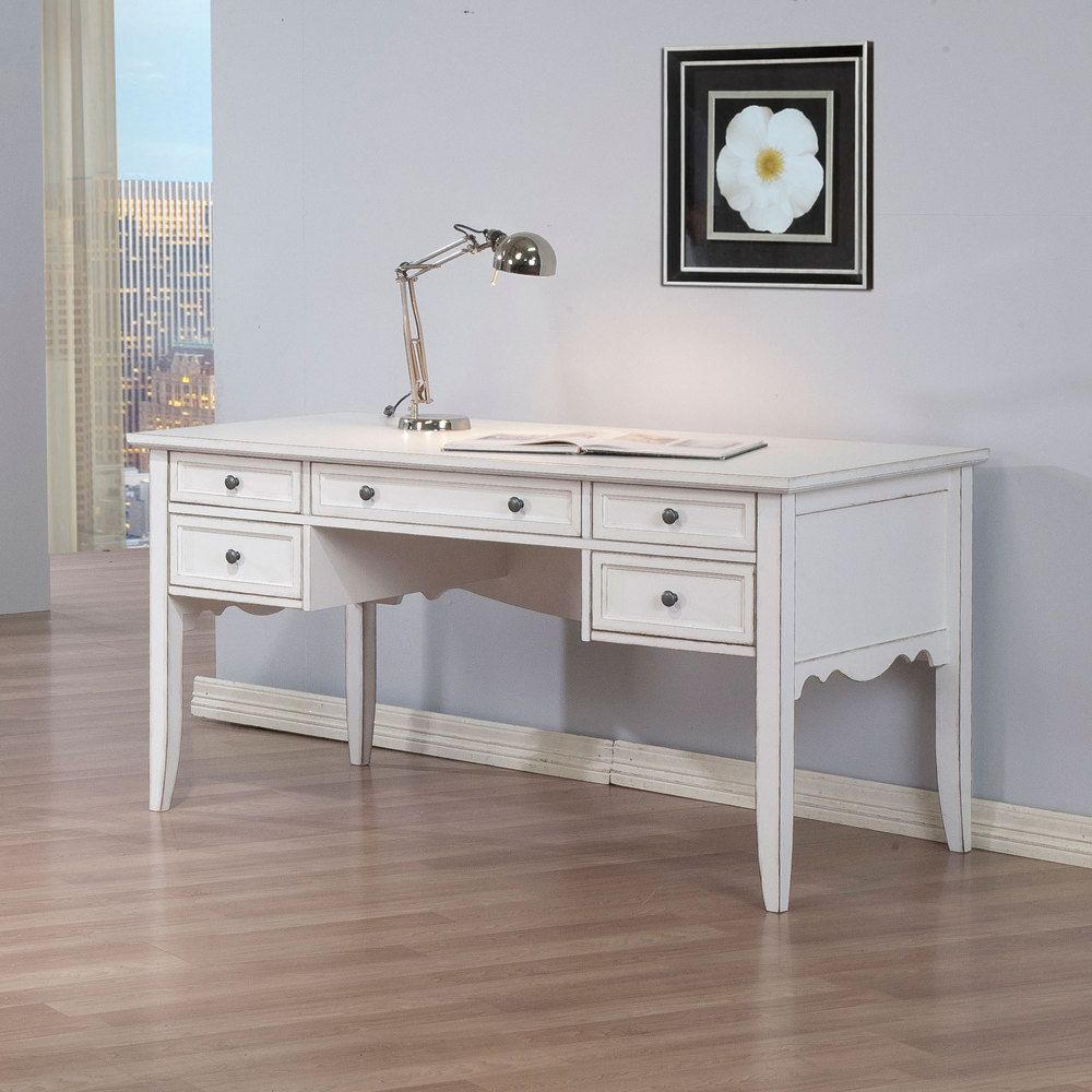Overstock Furniture Clearance: White Classics Writing Desk, Size Large