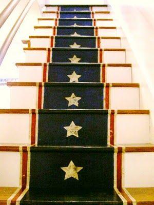stars & stripes stairs