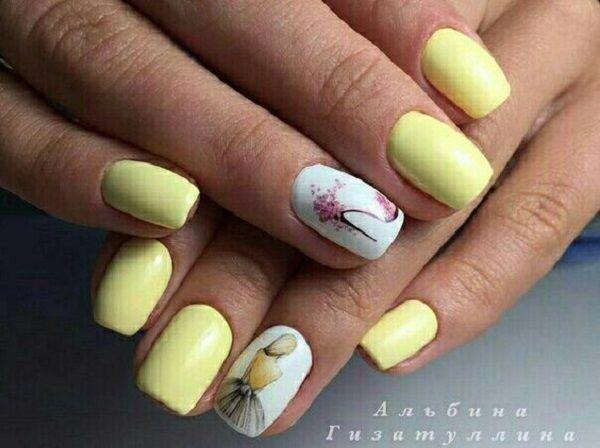 45 Yellow Nail Art Designs Nail Art Pinterest White Nail Art