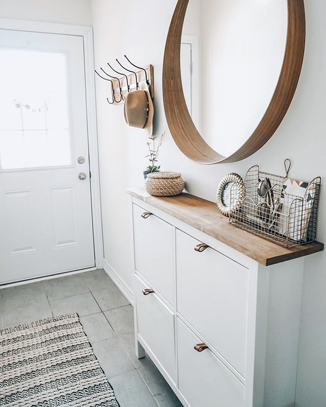 Easy Shoe Cabinet Ikea Hack for a Narrow Entryway » Lavender Julep