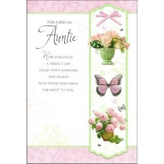 For a special auntie ladies birthday card floral design for a special auntie ladies birthday card floral design bookmarktalkfo Choice Image