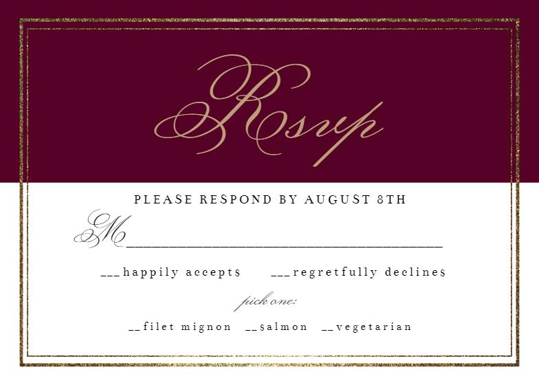 Classy Wedding Rsvp Card Template Free Greetings Island Rsvp Card Classy Wedding Rsvp Wedding Cards