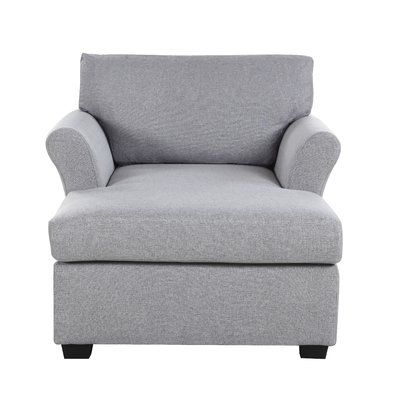 Champaign Chaise Lounge Upholstery Light Gray delanico