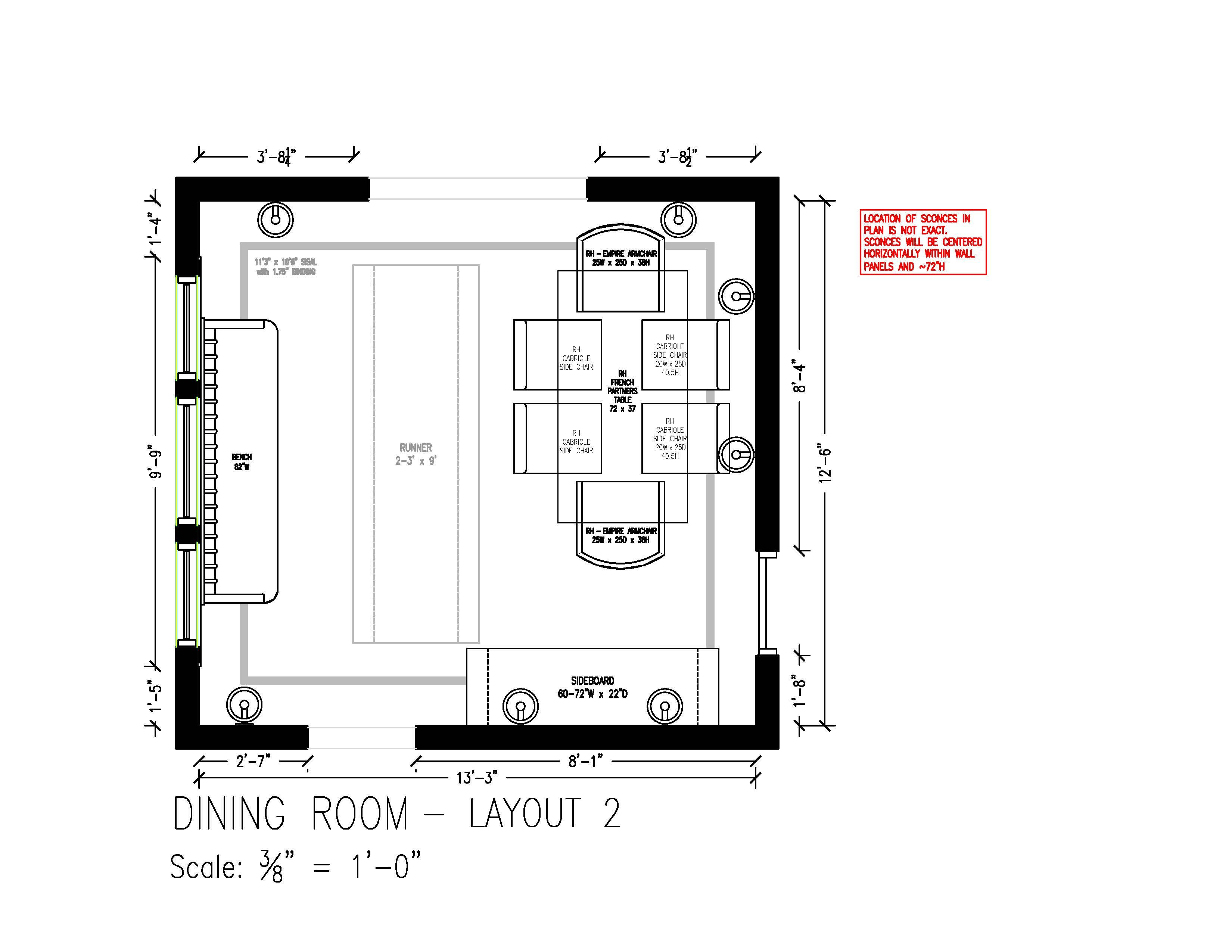 Dining Room Furniture Layout 2 Removed Console & Display Cabinet Beauteous Dining Room Layout Design Decoration