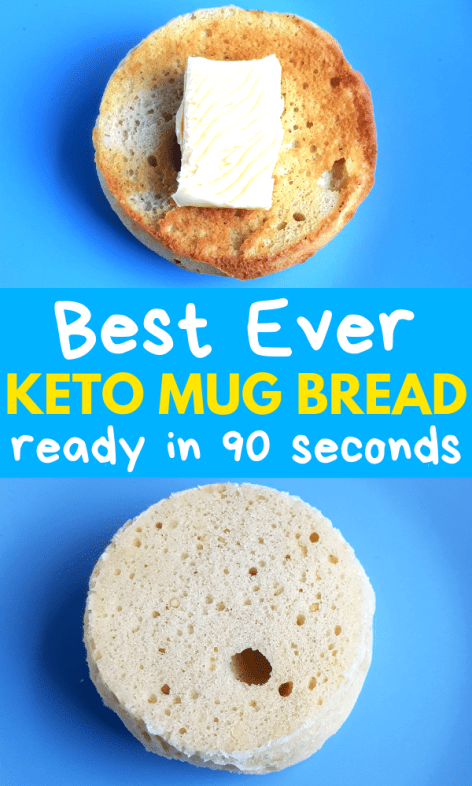 90 Second Keto Mug Bread With Only 4 Ingredients #lowcarbeating