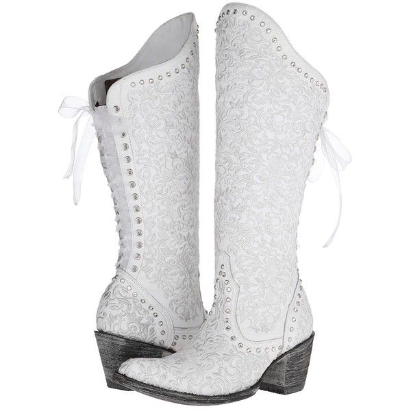 old gringo ice bride womens boots white 608 liked on polyvore featuring white cowboy bootswedding