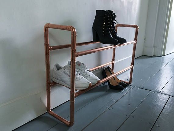 copper shoe rack