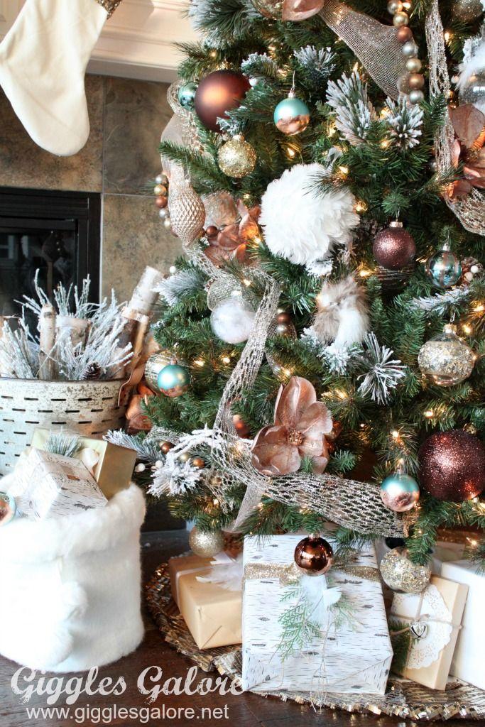 Glam Metallic Farmhouse Christmas Tree Metal christmas