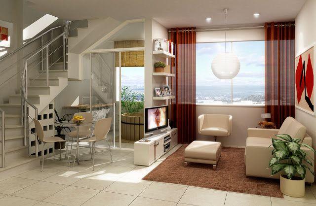 Um espa o bem pequeno e subdividido com pequenas paredes for Decoracion de loft pequenos
