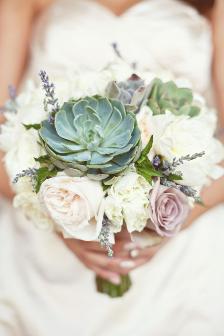Succulent Bridal Bouquets Trendy Tuesday Bouquet Adorned With Lavender Sprigs And Pastel Roses