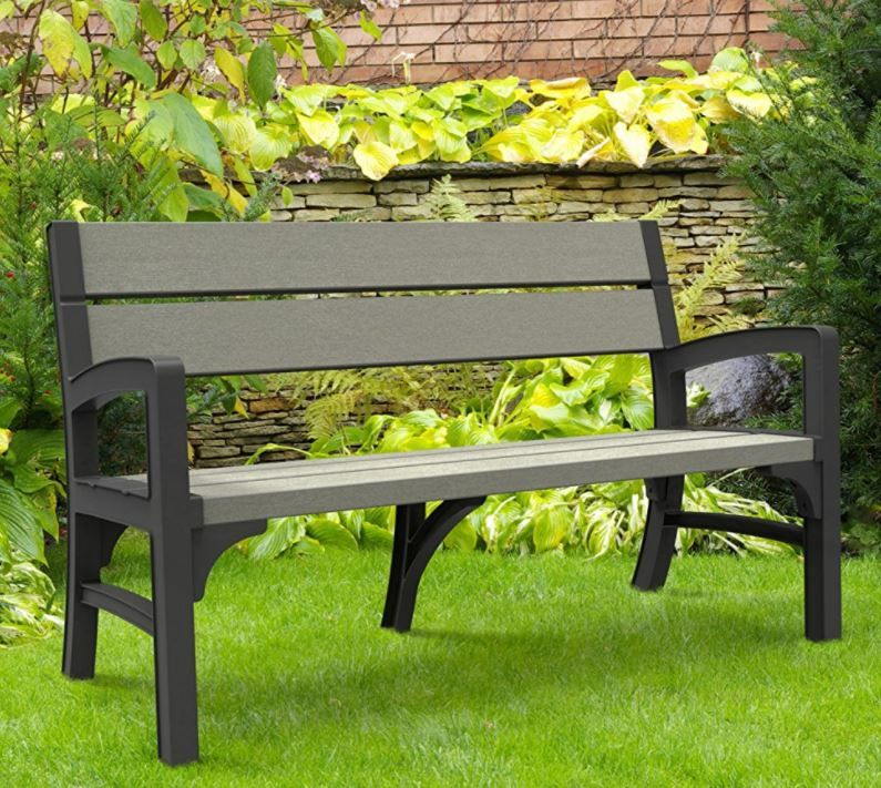 Resin Garden Bench Seat Outdoor Garden Bench Metal Garden