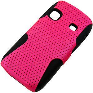 Apex Hybrid Case for Samsung Replenish SPH-M580, Hot Pink & Black aka phone case im getting!