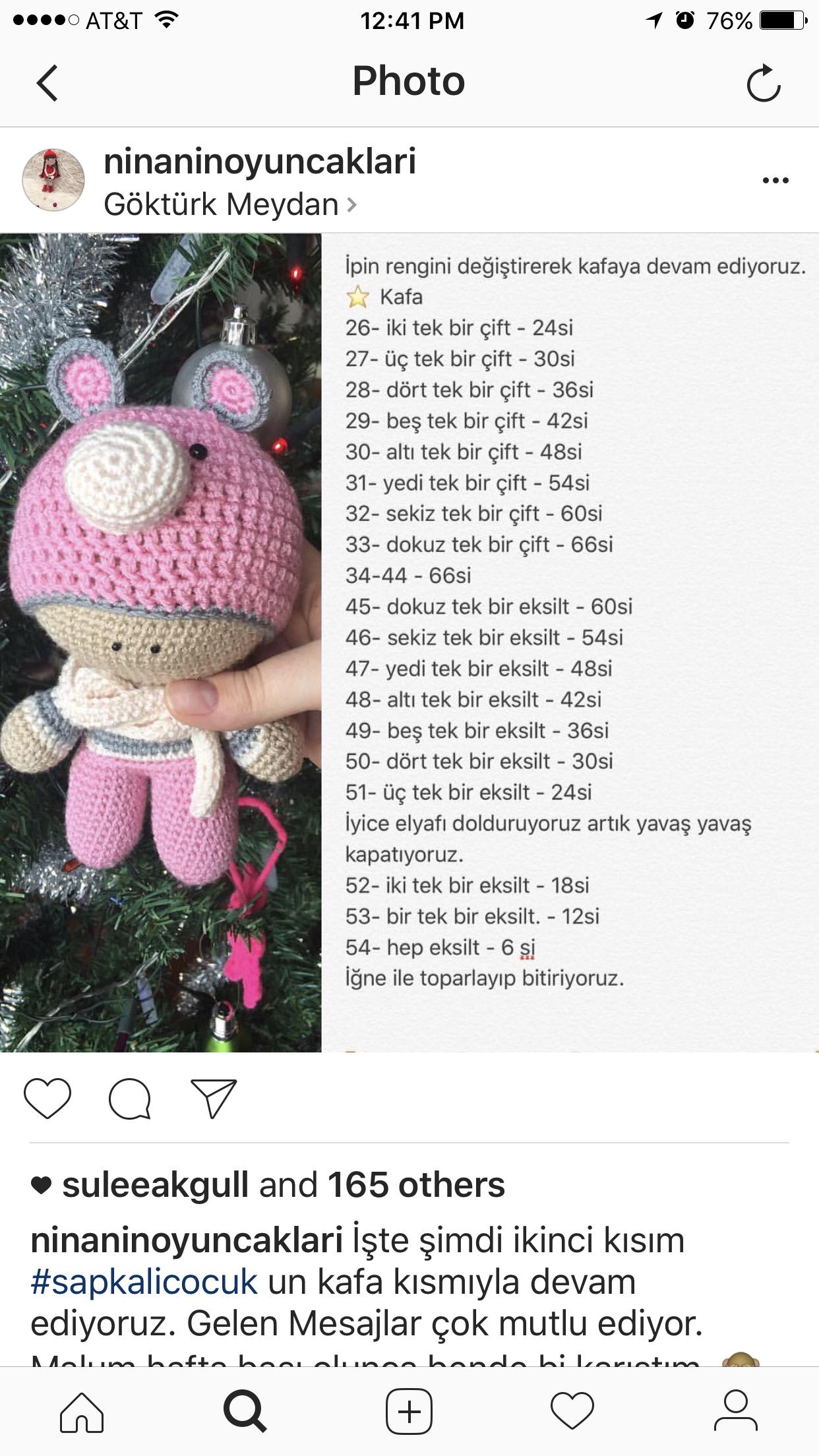 Pin de Zeynep Serpek en amigurimi | Pinterest | Patrones amigurumi ...