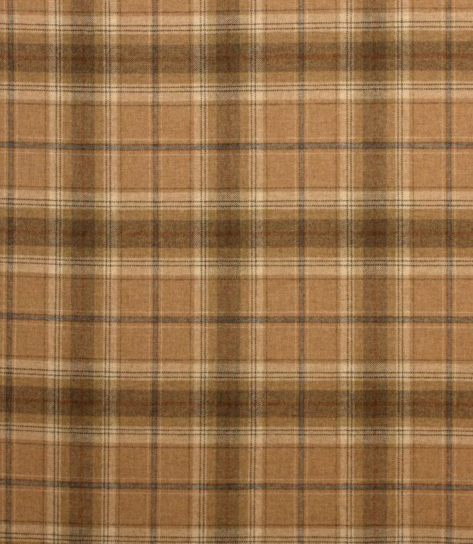 Autumn Orange Balmoral Wool Effect Tartan Upholstery Curtain Fabric Plaid Fabric