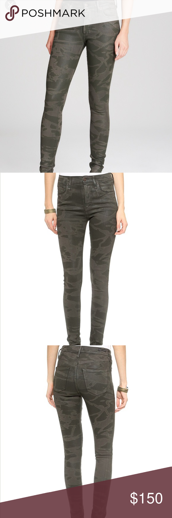 Rocket Leatherette Skinny Camo Jeans worn twice and in perfect condition. comfortable and flattering fit. true to size. Citizens Of Humanity Jeans Skinny
