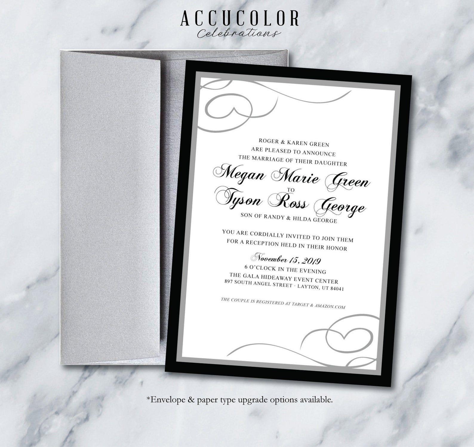 Blackwhite Wedding Invitation Megan Invite Design Digital Or Printable Blackandwhite Tangreyblack Monotoneinvite In 2020 Invitations Wedding Invitations Black And White Wedding Invitations