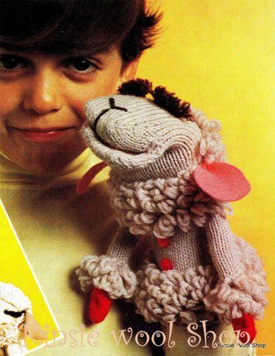 Vintage-70s-Retro-Knit-or-Crochet-Hand-Puppet-Pattern ...