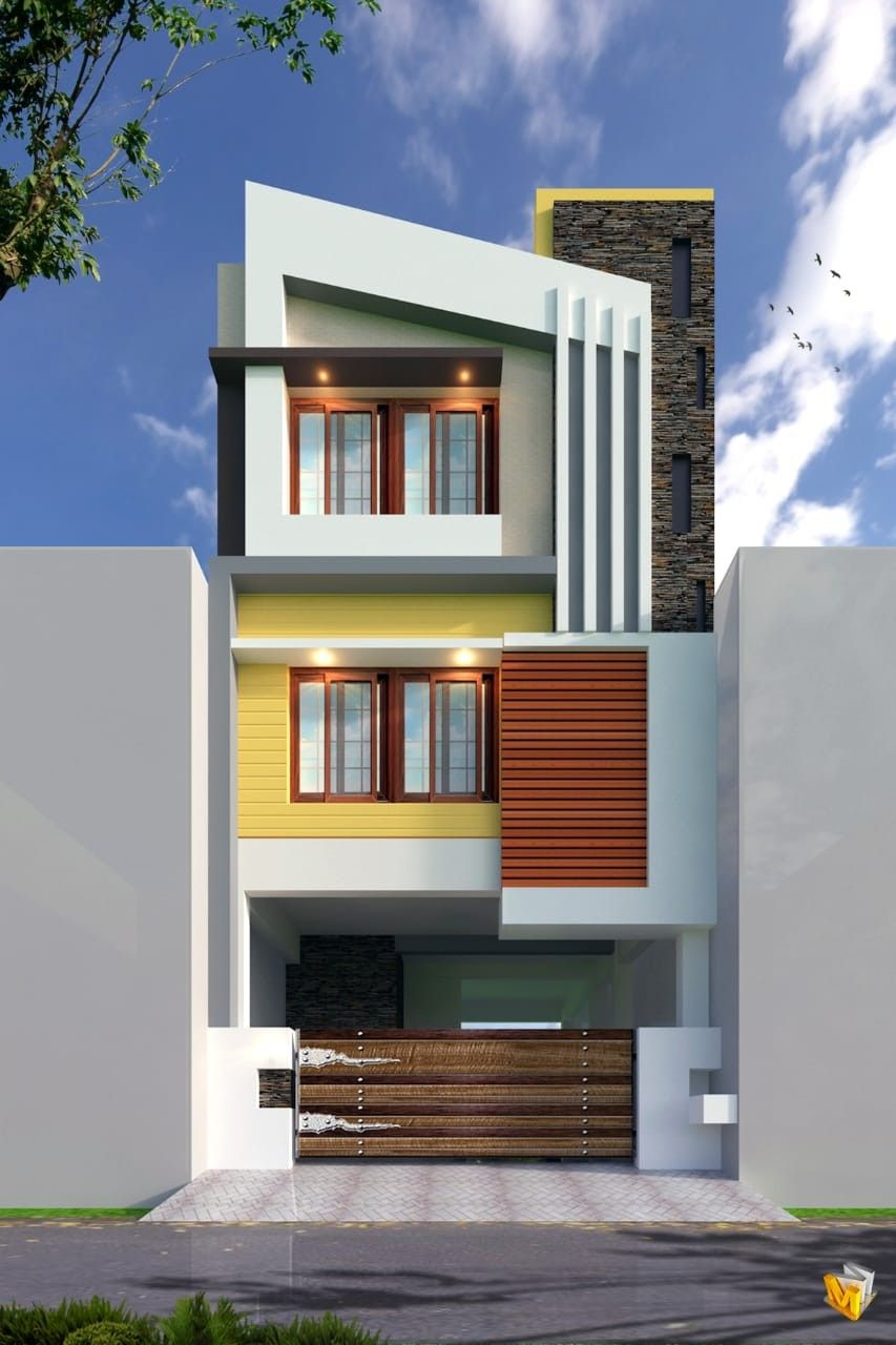 House Front Design House Design Front Elevation Designs: Narrow House Designs, House Outer Design, Small House Elevation Design