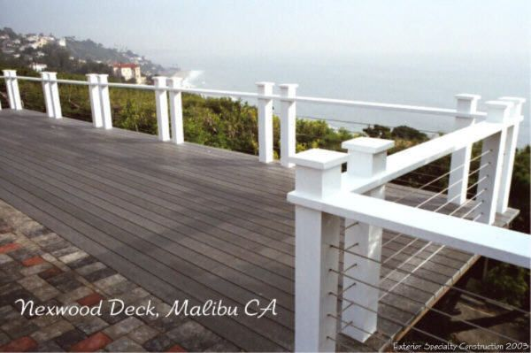 decks with wire cable railings | Malibu Deck with Cable Railing ...