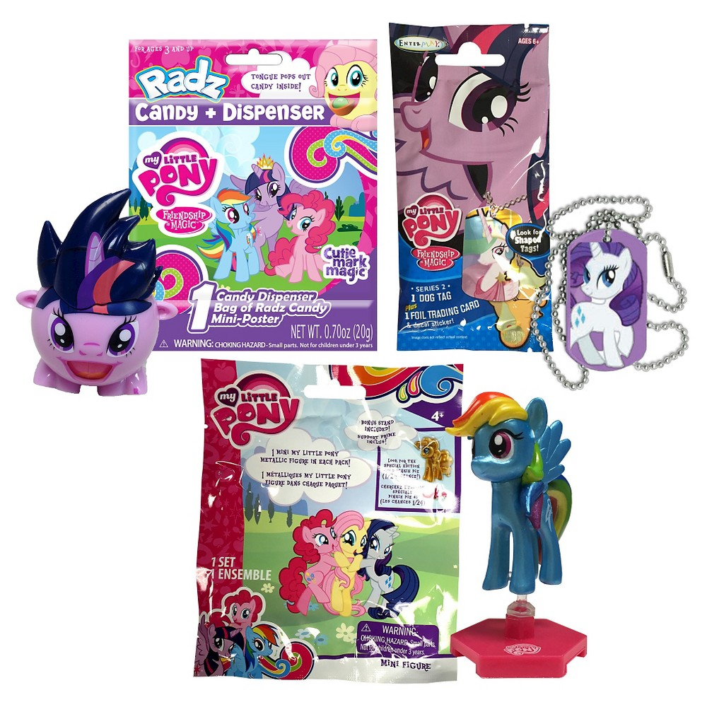 My Little Pony Blind Bag Box Cards, Candy, Figures, Mystery Item, Dog Tag