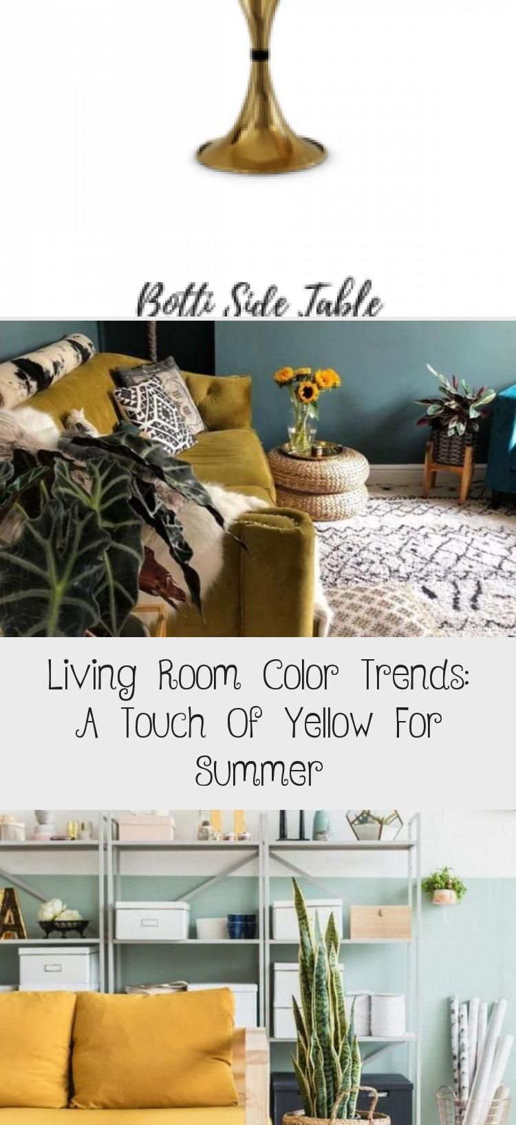 Living Room Color Trends: A Touch Of Yellow For Summer - Interior Design#color #design #interior #living #room #summer #touch #trends #yellow