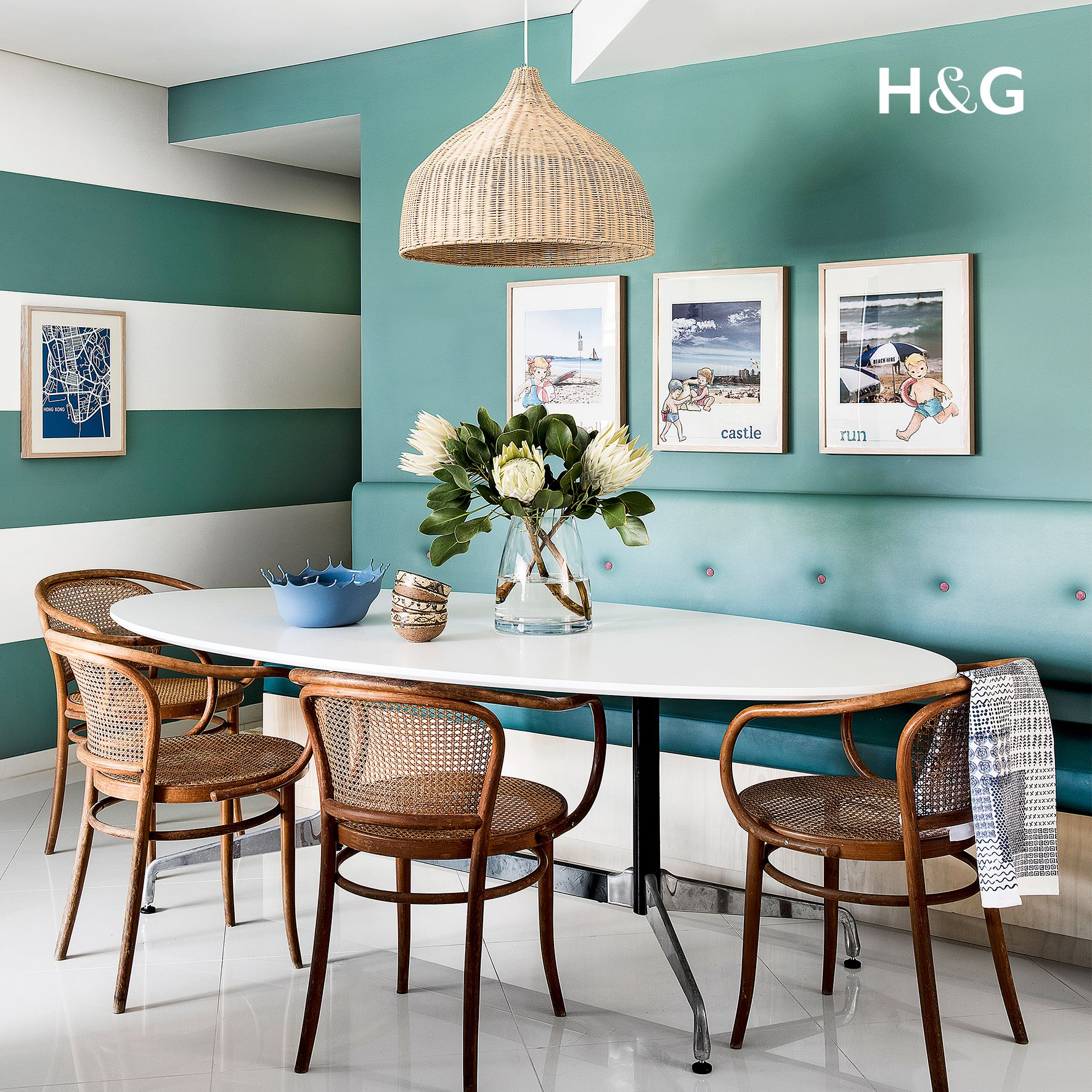 This lovely retro dining room was created by interior ...