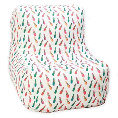 Awesome Wow Works Polyester Upholstered Retro Lipstick Bean Bag Machost Co Dining Chair Design Ideas Machostcouk