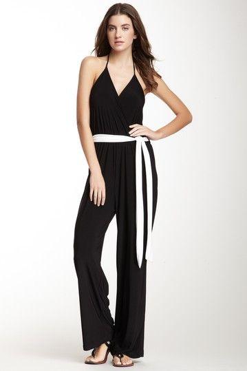 Belted Halter Jumpsuit by Arancia on @HauteLook