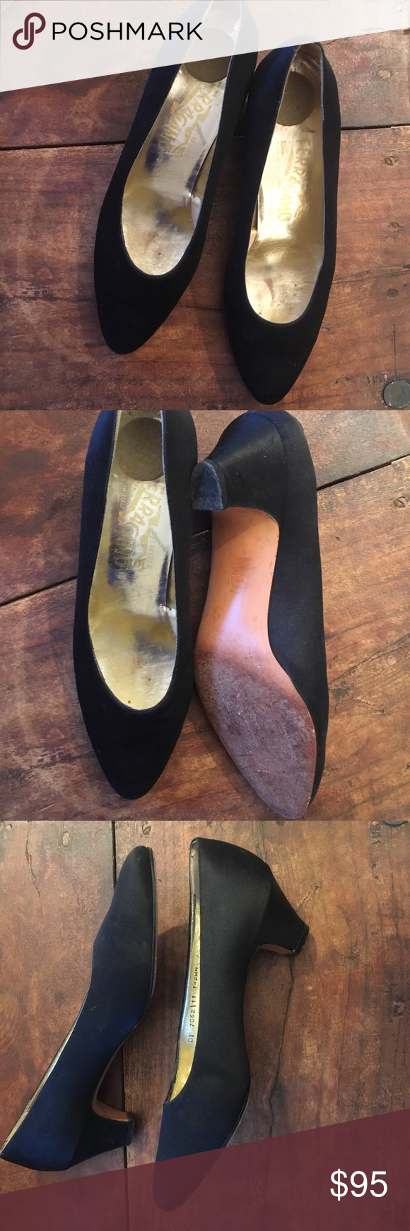 Vintage Ferragamo satin pumps Classic and timeless satin Ferragamo pumps size 7B. Looks equally great with dresses and skinny jeans. A great staple shoe! Salvatore Ferragamo Shoes Heels